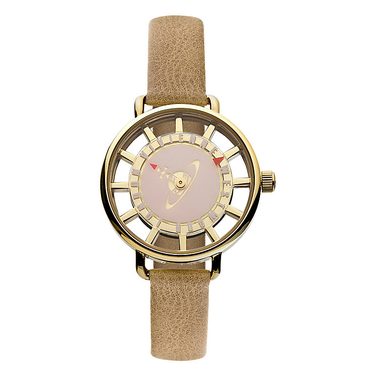 Vivienne Westwood Tate brown leather strap watch - Product number 2397323