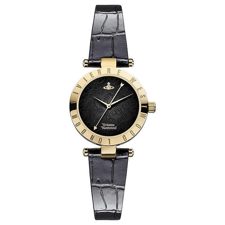 Vivienne Westwood Westbourne black leather strap watch - Product number 2397390