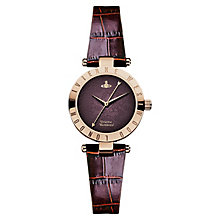 Vivienne Westwood Westbourne purple leather strap watch - Product number 2397404