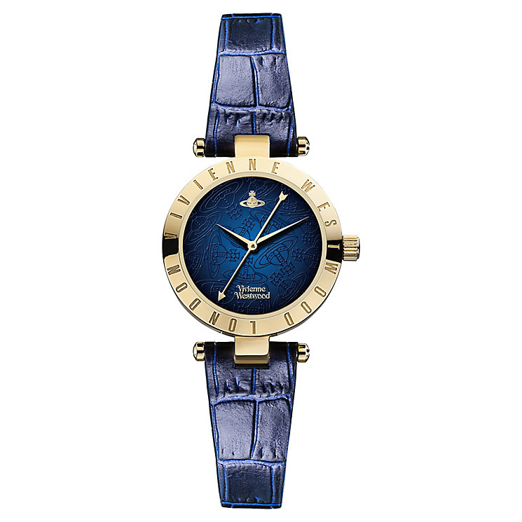 Vivienne Westwood Westborune blue leather strap watch - Product number 2397420