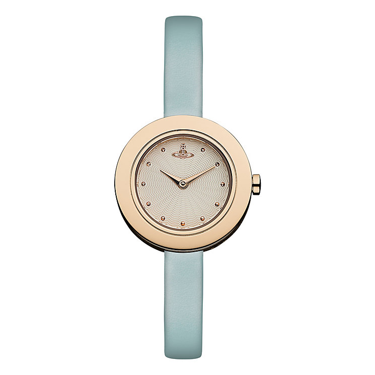 Vivienne Westwood Edge blue leather strap watch - Product number 2397447