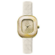 Vivienne Westwood Tourte white leather strap watch - Product number 2397595