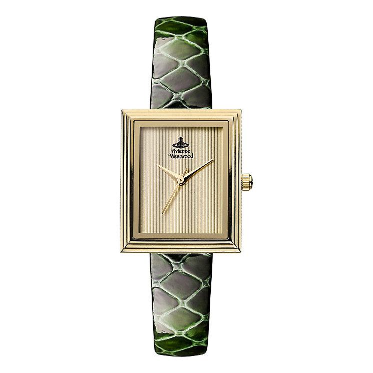 Vivienne Westwood Berkeley ladies' green leather strap watch - Product number 2397625