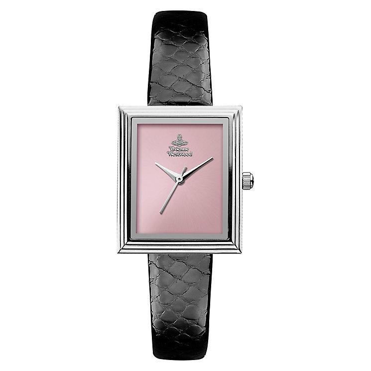 Vivienne Westwood Berkeley ladies' black leather strap watch - Product number 2397633