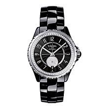 Chanel J12 Black Ceramic Bracelet Watch Diamond Set - Product number 2397722