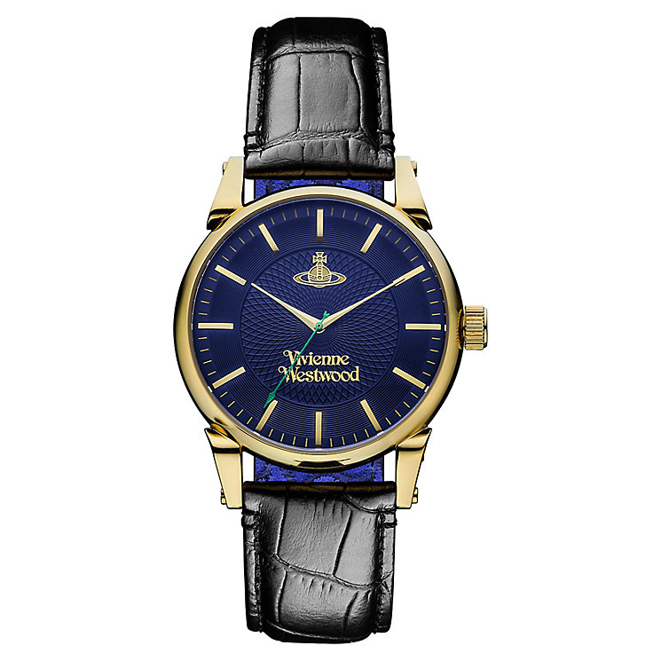 Vivienne Westwood Finsbury men's black leather strap watch - Product number 2397765