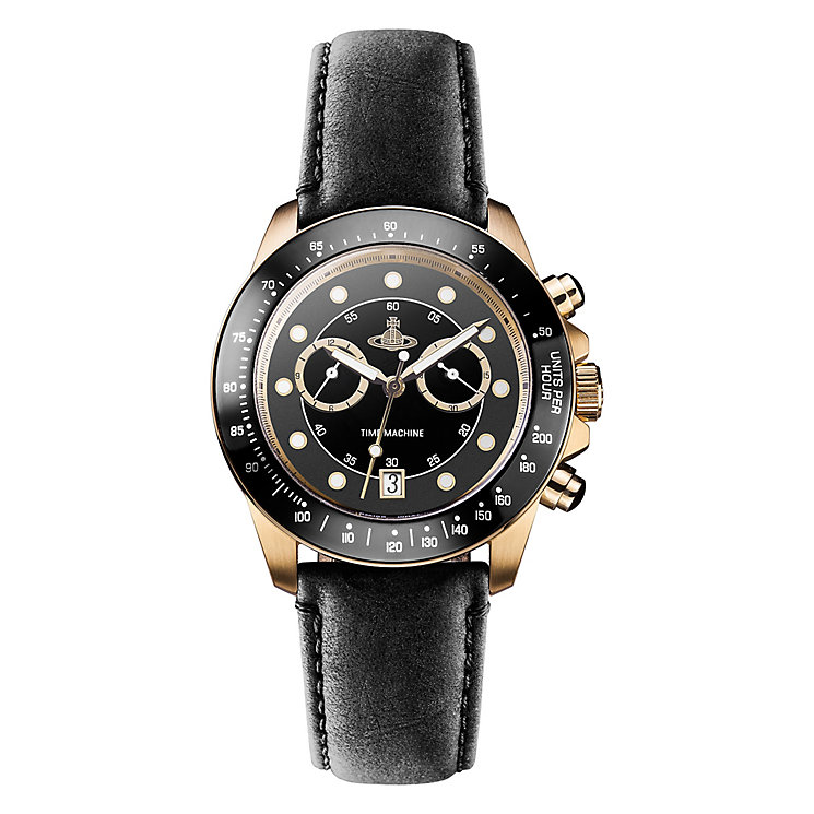 Vivienne Westwood Barbican men's black leather strap watch - Product number 2397773