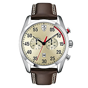 Scuderia Ferrari D50 men's brown leather strap watch - Product number 2399571