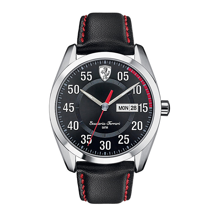 Scuderia Ferrari D50 men's black leather strap watch - Product number 2399598