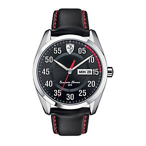 Scuderia Ferrari D50 men's black leather strap watch - Product number 2399598