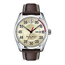 Scuderia Ferrari D50 men's brown leather strap watch - Product number 2399601