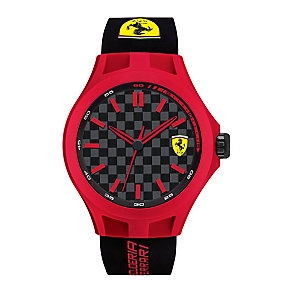 Scuderia Ferrari Pit Crew men's rubber strap watch - Product number 2399660