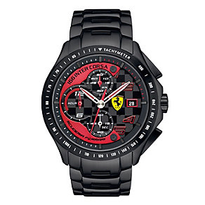 Scuderia Ferrari Race Day men's ion-plated bracelet watch - Product number 2399679