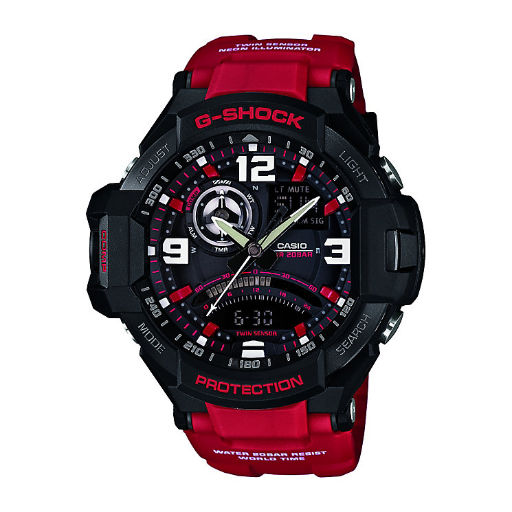 Casio Premium G-Shock Chronograph red strap watch - Product number 2399768