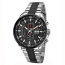 Accurist Men's Stainless Steel Black Dial Bracelet Watch - Product number 2399865