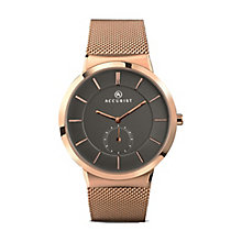 Accurist Men's Rose Gold Plated Mesh Strap Watch - Product number 2399962