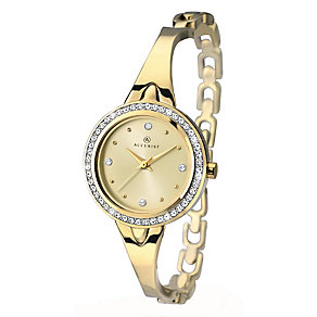 Accurist Ladies' Yellow Gold Plated Semi-bangle Watch - Product number 2400022