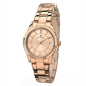 Accurist Ladies' Rose Gold Plated Bracelet Watch - Product number 2400030