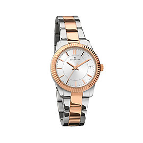 Accurist Ladies' Stainless Steel & Rose Gold Plated Watch - Product number 2400049