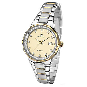 Accurist Ladies' Two-tone Champagne Dial Bracelet Watch - Product number 2400057