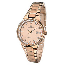 Accurist Ladies' Rose Gold Plated Bracelet Watch - Product number 2400065