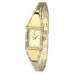 Accurist Ladies' Yellow Gold Plated Semi-Bangle Watch - Product number 2400103