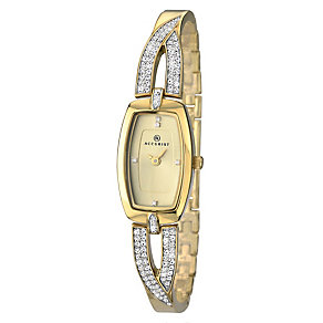 Accurist Ladies' Yellow Gold Plated Stone Set Watch - Product number 2400146