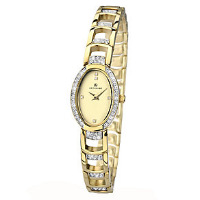 Accurist Ladies' Gold Plated Stone Set Bracelet Watch - Product number 2400154