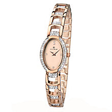 Accurist Ladies' Rose Gold Plated Stone Set Bracelet Watch - Product number 2400162