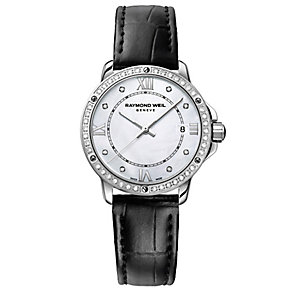Raymond Weil ladies' black leather strap watch - Product number 2400294
