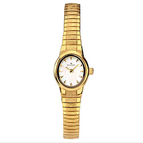 Accurist Ladies' Gold Plated Mother of Pearl Bracelet Watch - Product number 2400308
