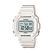 Casio Men's White Resin Strap Digital Watch - Product number 2400626