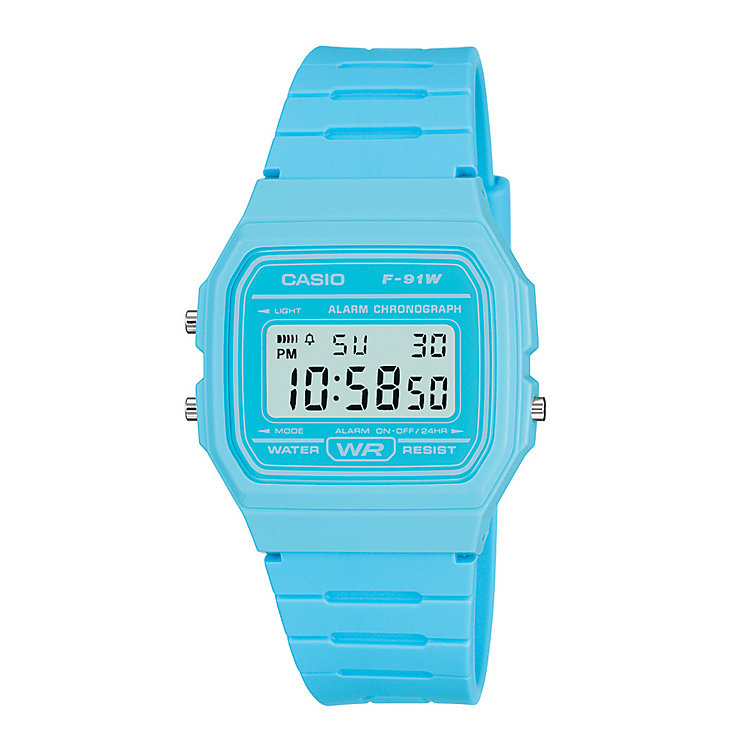 Casio Men's Light Blue Resin Strap Digital Watch - Product number 2400634