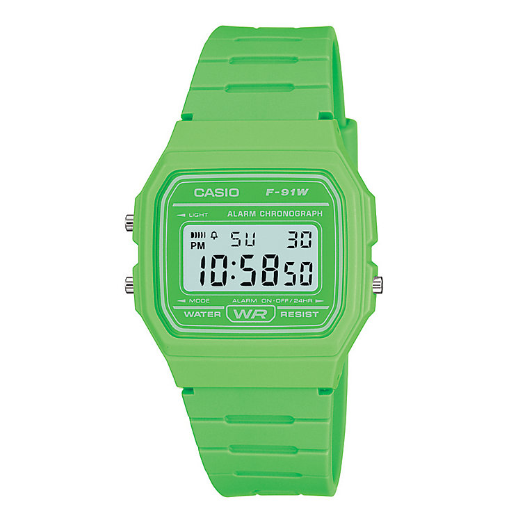 Casio Men's Green Resin Strap Digital Watch - Product number 2400642