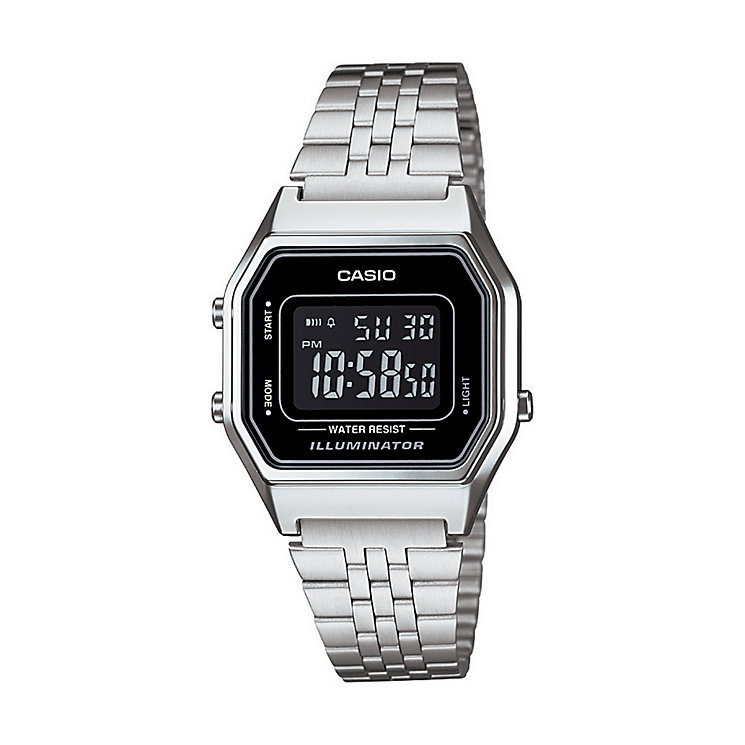 casio watches edifice g shock solar digital h samuel casio men s stainless steel black dial digital watch product number 2401088
