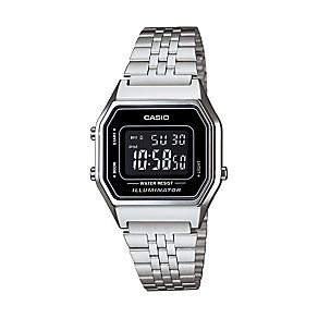 Casio Men's Stainless Steel Black Dial Digital Watch - Product number 2401088