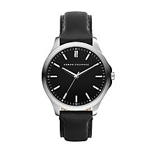Armani Exchange Men's Black Leather Strap Watch - Product number 2401185