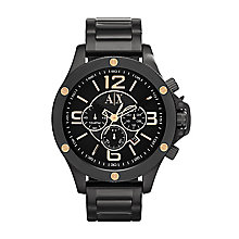 Armani Exchange Men's Black and Gold Tone Bracelet Watch - Product number 2401215