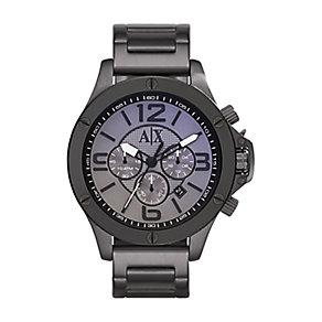 Armani Exchange Men's Gunmetal Grey Chronograph Watch - Product number 2401223