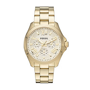Fossil Ladies' Cecile Yellow Gold Plated Bracelet Watch - Product number 2402831