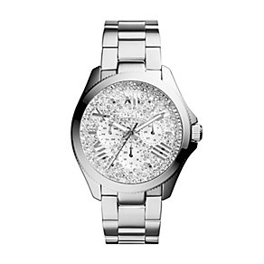 Fossil Ladies' Cecile Stainless Steel Sparkle Bracelet Watch - Product number 2402858