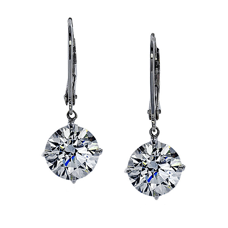 CARAT* 9ct white gold stone set round drop earrings - Product number 2405539