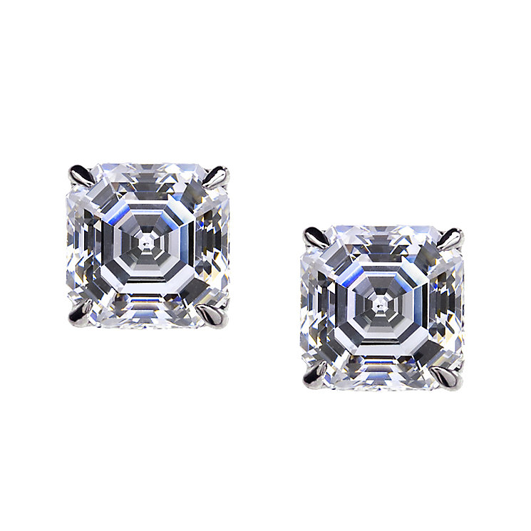 CARAT* 9ct white gold stone set stud earrings - Product number 2405571