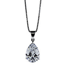 CARAT* 9ct white gold stone set pear shaped pendant - Product number 2405601