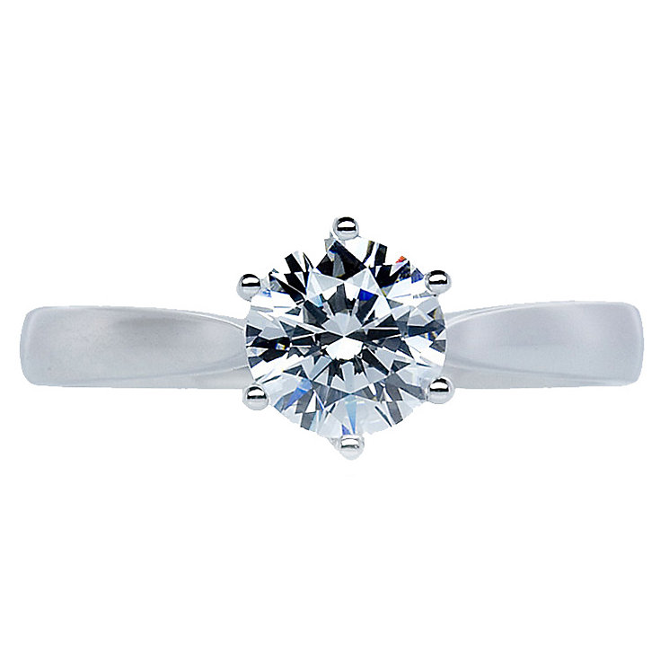 CARAT* 9ct white gold stone set solitaire ring size M - Product number 2405636