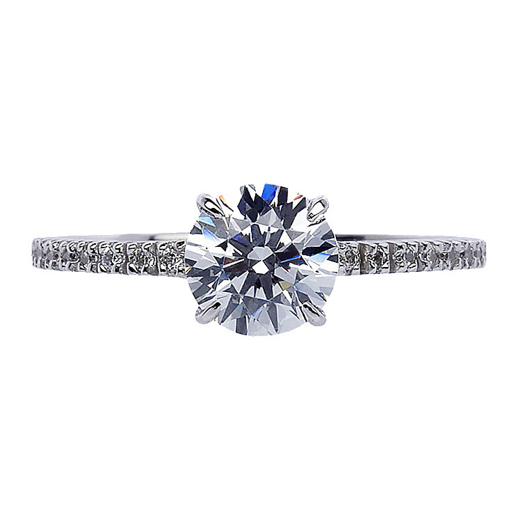 CARAT* 9ct white gold stone set ring size M - Product number 2405660