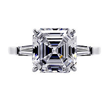CARAT* 9ct white gold stone set baguette ring size K - Product number 2405717