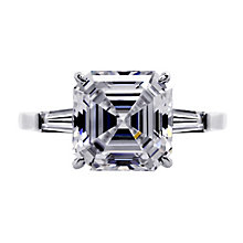 CARAT* 9ct white gold stone set baguette ring size O - Product number 2405733