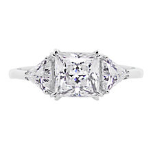 CARAT* 9ct white gold stone set trilogy ring size K - Product number 2405741