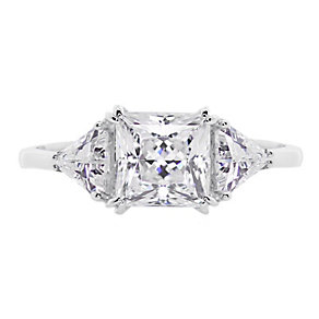 CARAT* 9ct white gold stone set trilogy ring size M - Product number 2405768